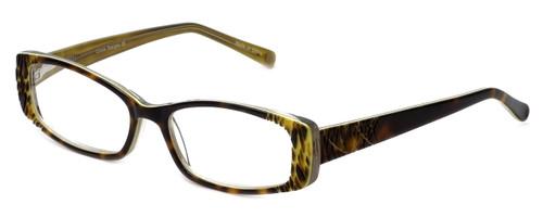 Cinzia Designer Reading Glasses Chisel C2 in Tortoise Lime 52mm