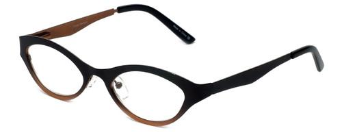 Cinzia Designer Reading Glasses Jitterbug C1 in Black Bronze 46mm