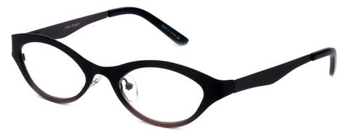 Cinzia Designer Reading Glasses Jitterbug C3 in Black Wine 46mm