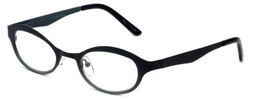 Cinzia Designer Reading Glasses Splendid C1 in Black Sage 46mm