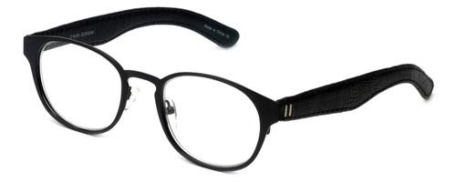 Cinzia Designer Reading Glasses The Innovator C1 in Black 49mm