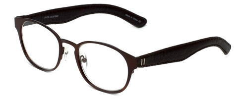 Cinzia Designer Reading Glasses The Innovator C2 in Brown 49mm