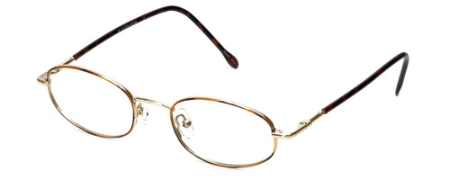 FlexPlus Collection Designer Eyeglasses Model 86 in Gold-Demi-Amber 48mm :: Rx Bi-Focal