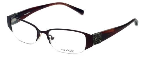 Vera Wang Designer Eyeglasses V065 in Burgundy 49mm :: Progressive