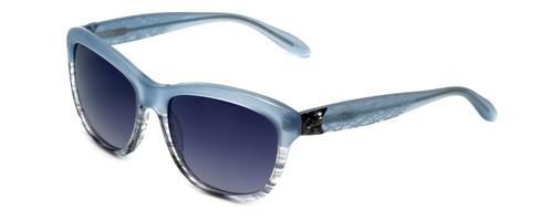 Vera Wang Designer Sunglasses Freya in Sky Gradient Frame & Grey Gradient Lens 55mm