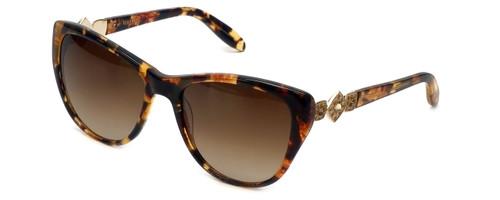 Vera Wang Designer Sunglasses Panna in Gold Tortoise Frame & Brown Gradient Lens 54mm