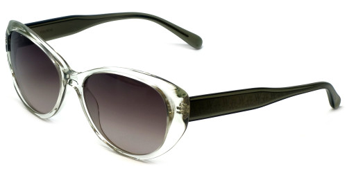 Vera Wang Designer Sunglasses V284 in Kelly Crystal Frame & Grey Gradient Lens 56mm
