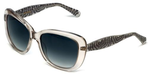 Vera Wang Designer Sunglasses V412 in Grey Crystal Frame & Grey Gradient Lens 54mm