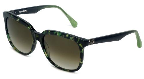 Vera Wang Designer Sunglasses V426 in Fern Frame & Brown Gradient Lens 56mm