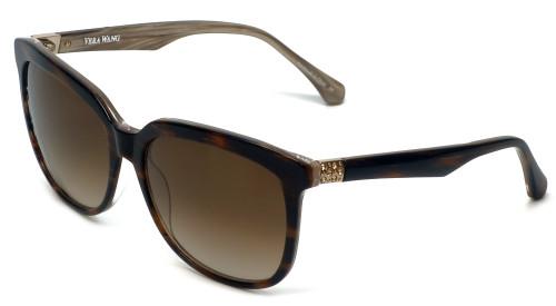 Vera Wang Designer Sunglasses V426 in Brown Gradient Frame & Brown Gradient Lens 56mm