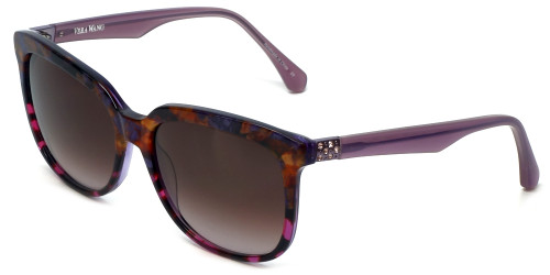 Vera Wang Designer Sunglasses V426 in Wine Frame & Brown Gradient Lens 56mm