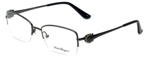 Salvatore Ferragamo Designer Eyeglasses SF2132R-015 in Shiny-Gunmetal 52mm :: Rx Bi-Focal
