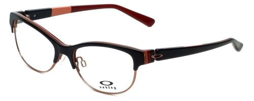 Oakley Designer Eyeglasses Throwback OX1108-0552 in Dark Brown 52mm :: Custom Left & Right Lens