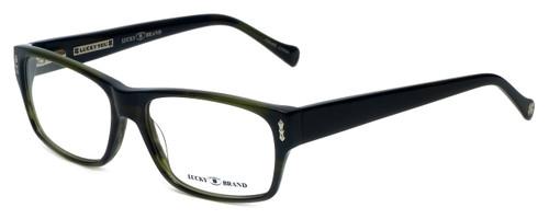 Lucky Brand Designer Reading Glasses Cliff in Olive-Horn 54mm