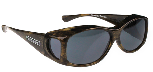 Jonathan Paul® Fitovers Eyewear Kids Extra-Small Glides in Brushed-Horn & Gray G006