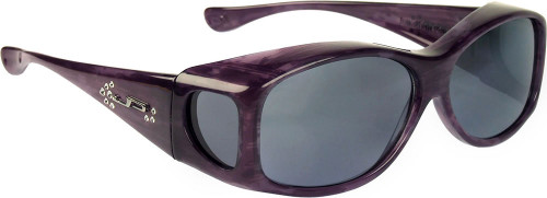 Jonathan Paul® Fitovers Eyewear Kids Extra-Small Glides in Purple Haze & Gray G005S