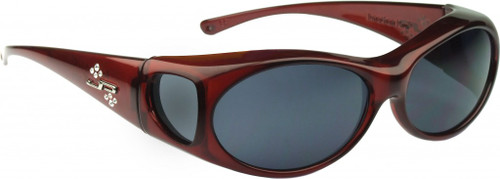 Jonathan Paul® Fitovers Eyewear Small Aurora in Claret & Gray AR003S
