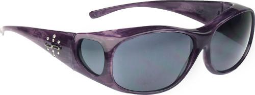 Jonathan Paul® Fitovers Eyewear Medium Element in Purple-Haze & Gray EM006S
