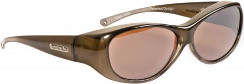 Jonathan Paul® Fitovers Eyewear Medium Kiata in Olive-Charcoal & Amber KA003A