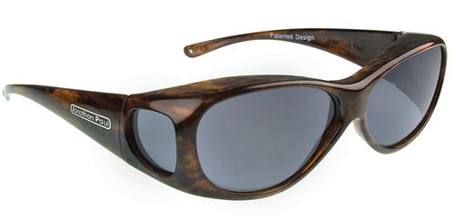 Jonathan Paul® Fitovers Eyewear Medium Lotus in Brushed-Horn & Gray LS002