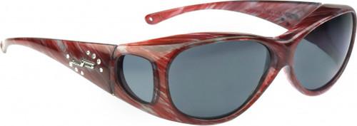 Jonathan Paul® Fitovers Eyewear Medium Lotus in Claret-Stripe & Gray LS004S