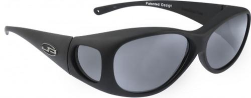 Jonathan Paul® Fitovers Eyewear Medium Lotus in Matte-Black & Gray LS001