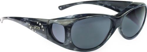 Jonathan Paul® Fitovers Eyewear Medium Lotus in Smoke-Marble with Swarovski® Crystals & Gray