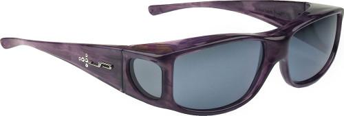Jonathan Paul® Fitovers Eyewear Large Jett in Purple-Haze with Swarovski® Crystals & Gray