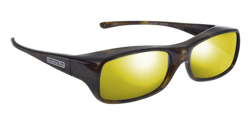 Jonathan Paul® Fitovers Eyewear Large Mooya in Brown-Marble & Gold Mirror MY003YM