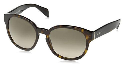 Prada Designer Sunglasses PR18RS-2AU3D0 in Havana & Brown Gradient Lens