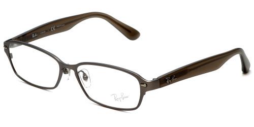 Ray-Ban Designer Eyeglasses RX8707-1073 in Gunmetal & Brown 50mm :: Custom Left & Right Lens