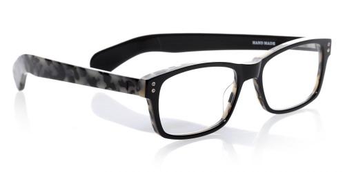 EyeBobs Designer Reading Glasses Roy D 2890 11 Black with White Tortoise