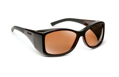 Haven Designer Fitover Sunglasses Balboa in Tortoise & Polarized Amber Lens (LARGE)