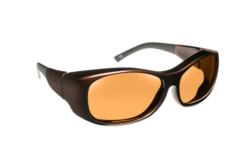 Haven Designer Fitover Sunglasses Sunset in Mocha & Polarized Amber Lens (LARGE)