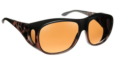 Haven Designer Fitover Sunglasses Summerwood in Matte Tortoise & Polarized Amber Lens (LARGE)