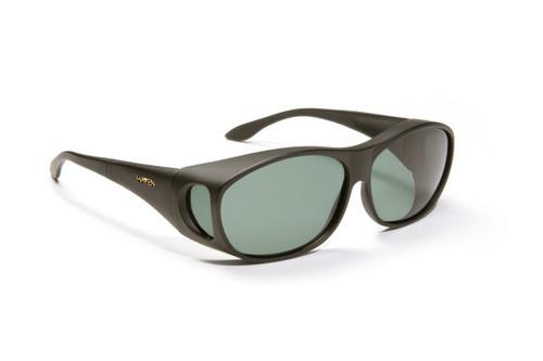 Haven Designer Fitover Sunglasses Meridian in Black & Polarized Grey Lens (MEDIUM)