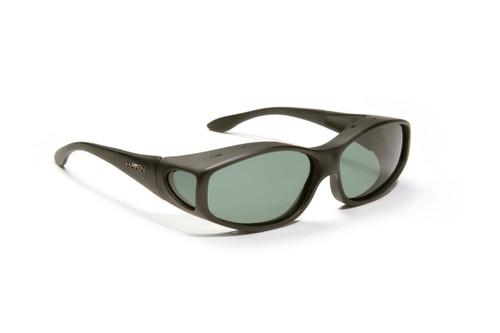 Haven Designer Fitover Sunglasses Biscayne in Black & Polarized Grey Lens (MEDIUM)
