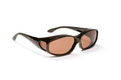 Haven Designer Fitover Sunglasses Biscayne in Tortoise & Polarized Amber Lens (MEDIUM)
