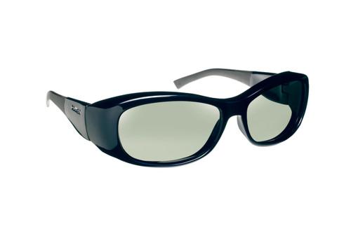 Haven Designer Fitover Sunglasses Solana in Blue & Polarized Grey Lens (MEDIUM/LARGE)