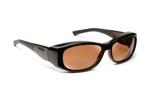 Haven Designer Fitover Sunglasses Solana in Tortoise & Polarized Amber Lens (MEDIUM/LARGE)