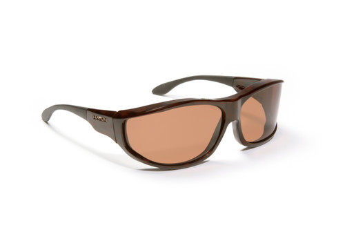 Haven Designer Fitover Sunglasses Malloy in Tortoise & Polarized Amber Lens (MEDIUM/LARGE)