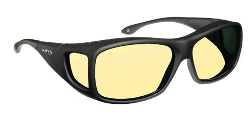 Haven Designer Fitover Sunglasses Night Driver in Black & Night Driver Yellow Lens (MEDIUM/LARGE)