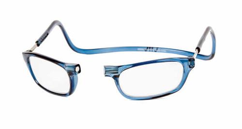 Clic Magnetic Eyewear Regular Fit Original Style in Blue Jeans :: Custom Left & Right Lens