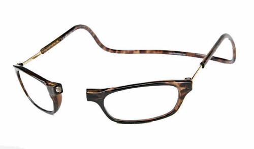 Clic Magnetic Eyewear Regular Fit Original Style in Tortoise :: Custom Left & Right Lens