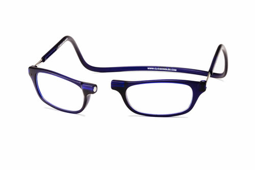 Clic Magnetic Eyewear Regular Fit Original Style in Frosted Blue :: Custom Left & Right Lens