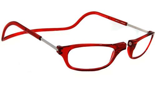 Clic Magnetic Eyewear Regular Fit Original Style in Red :: Custom Left & Right Lens