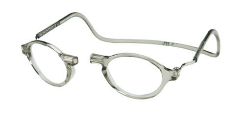 Clic Magnetic Eyewear Regular Fit Classic Style in Smoke :: Custom Left & Right Lens