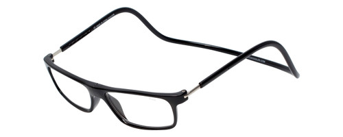Clic Magnetic Eyewear Long Fit Executive Style in Black :: Custom Left & Right Lens