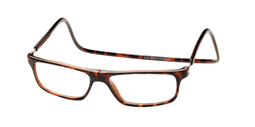 Clic Magnetic Eyewear Long Fit Executive Style in Tortoise :: Custom Left & Right Lens
