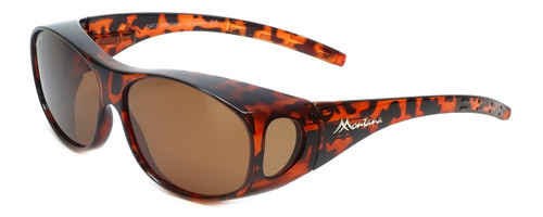 Montana Designer Fitover Sunglasses F01A in Gloss Tortoise & Polarized Brown Lens